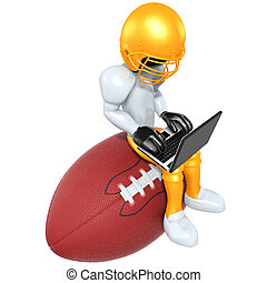 Fantasy Football - A Concept And Presentation Figure in 3D