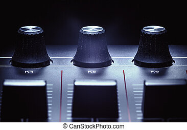 Midi Controller Details - Details of a modern midi...