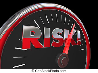 Risk Level Rising Danger Warning Speedometer 3d Illustration