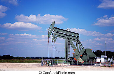 Pumps - Oil Pumps on the field. Oil industry equipment.