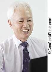 old asian business man