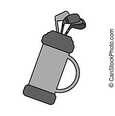 golf clubs bag equipment icon vector illustration design