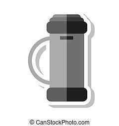 golf clubs bag equipment icon vector illustration design