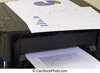 Printer printing business report