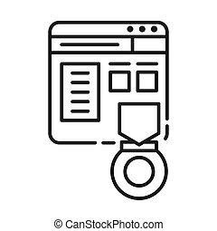 website rank vector illustration design