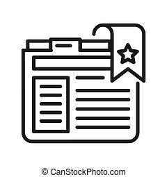favorite website vector illustration design