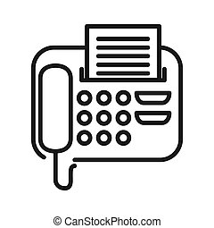 fax message vector illustration design