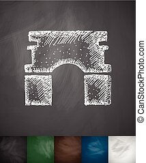 Triumphal Arch icon. Hand drawn vector illustration....