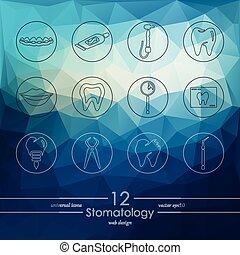 Set of stomatology icons - stomatology modern icons for...