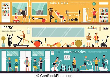 Take A Walk Energy Burn Calories flat interior outdoor...