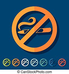 Flat design: no smoking