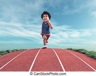 Runner on the track.