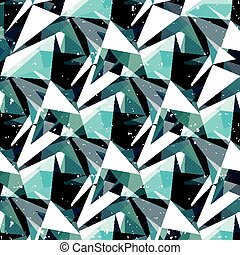 colored triangles seamless geometric pattern