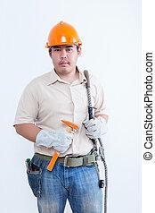 Portrait of male technician
