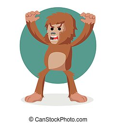 bigfoot angry vector illustration design