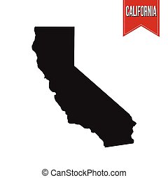 Map of California on white