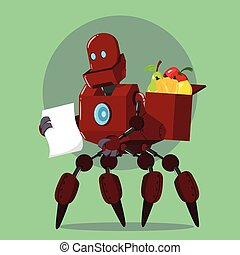 carrier robot buying fruits