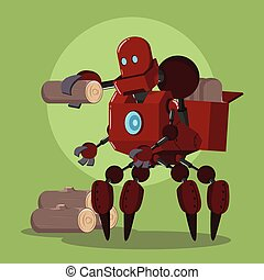 carrier robot carrying lumber