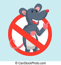 mouse prohibited vector illustration design