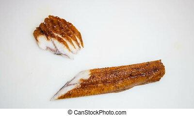sashimi acne cut on slices - sashimi sushi acne slices on...