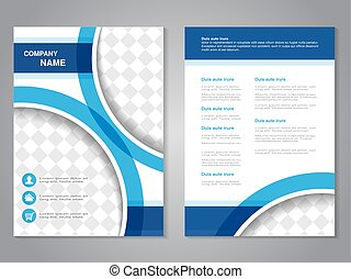 Vector modern brochure, abstract flyer, simple design with...