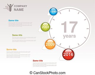 Vector timeline. Infographic template for company. Timeline...