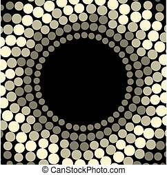 Vector geometric pattern. Modern texture wreath in golden color. Simple dotted design. Abstract background on the book cover, brochure, flyer or website.