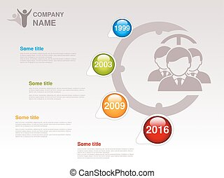 Vector timeline Infographic template for company Timeline...