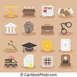 Law colorful icons