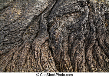 Abstract wavy background of the lava. Kamchatka Peninsula.