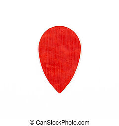 Guitar plectrums isolated on a white background - Red guitar...