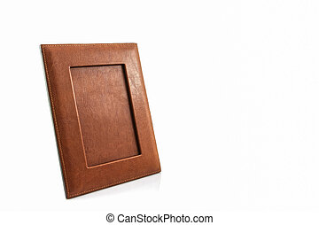 Vintage leather picture frame. - Vintage leather picture...