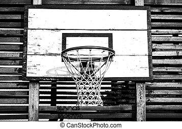 Backboard and net