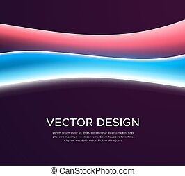 Abstract background with colorful glowing waves