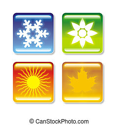 Four Seasons - multipurpose image for depiction of four...