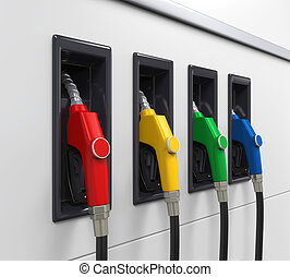 Gas Fuel Pump Illustration. 3D render