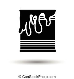 Paint can icon. White background with shadow design. Vector...