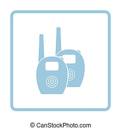Baby radio monitor ico. Blue frame design. Vector...