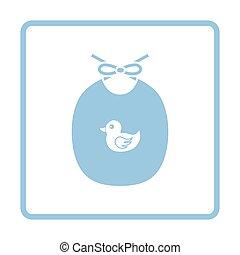 Bib ico. Blue frame design. Vector illustration.