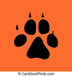 Dog trail icon