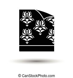 Wallpaper icon. White background with shadow design. Vector...