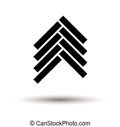 Parquet icon. White background with shadow design. Vector...