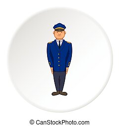 Captain icon, cartoon style - Captain icon in cartoon style...