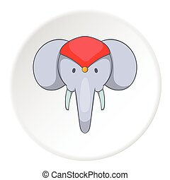 Indian elephant icon, cartoon style - Indian elephant icon...