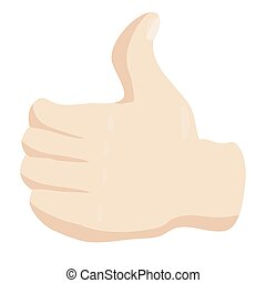 Thumbs up icon, cartoon style - Thumbs up icon in cartoon...