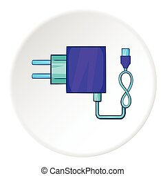 Charger icon, cartoon style - Charger icon in cartoon style...