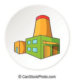 Brewery icon, cartoon style - Brewery icon in cartoon style...
