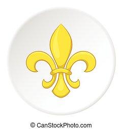 Knight ornament icon, cartoon style - Knight ornament icon...