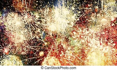 Endless Fireworks Explosions Loop - Looped shot of colorful...