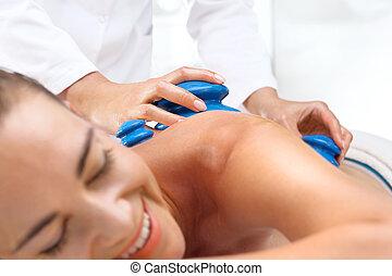 Massage therapy, massage Chinese cupping. - Masseur...